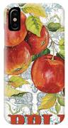 Apples On Damask IPhone Case