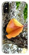 Apricot Leaf And Lichen IPhone Case