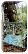 Aqua Porch Swing IPhone Case