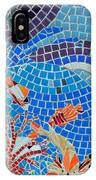 Aquatic Mosaic Tile Art IPhone X Case