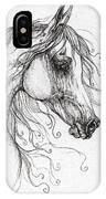 Arabian Horse Drawing 48 IPhone Case