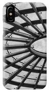 Architecture Ceiling In Black And White IPhone Case