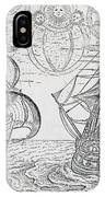Arctic Phenomena From Gerrit De Veer S Description Of His Voyages Amsterdam 1600 IPhone Case