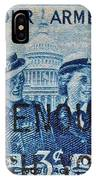 Armed Services Women Stamp IPhone Case