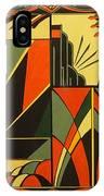 Art Deco In Orange IPhone Case