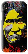 Art Homage Andy Warhol Geronimo 1887-2009  IPhone Case