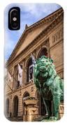 Art Institute Of Chicago Lion Statue IPhone Case
