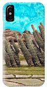 Art No.1900 American Landscape Cactus Stone Mountains And Skyview By Navinjoshi Artist Toronto Canad IPhone Case