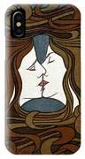 Art Nouveau Woodblock Print  1898 IPhone Case