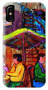 Art Of Montreal Enjoying A Pint At Ye Olde Orchard Irish Pub And Grill Monkland Village Cafe Scenes IPhone Case