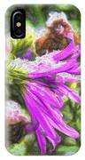 Artistic Aster In First Snow Fall 2 Imp 2-2 IPhone Case