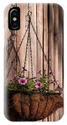 Artistic Hanging Basket Of Petunias IPhone Case