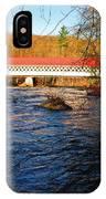 Ashuelot Covered Bridge Scene IPhone Case