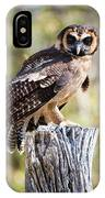 Asian Brown Wood Owl IPhone Case
