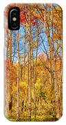 Aspen Fall Foliage Portrait Red Gold And Yellow  IPhone Case