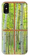 Aspen Tree Forest Autumn Picture Window Frame View  IPhone Case