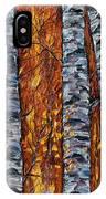 White Trees  Original Oil Painting  IPhone Case