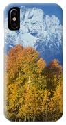 Aspens Fall Mount Moran Grand Tetons National Park Wyoming IPhone Case
