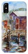 At Monterey Wharf Ca IPhone Case