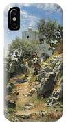 At Noon On A Cactus Plantation In Capri IPhone Case