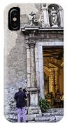 At The Church - Child's Curiosity - Sicily IPhone Case