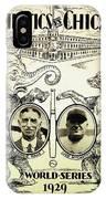 Athletics Vs Chicago 1929 World Series IPhone Case