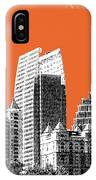 Atlanta Skyline 2 - Coral IPhone Case