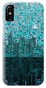 Atlanta Skyline Abstract 2 IPhone Case