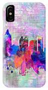Atlanta Skyline Watercolor 4 IPhone Case