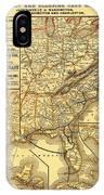 Atlantic Coast Line Railway Map 1885 IPhone Case