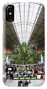 Atocha Railway Station Interior In Madrid IPhone Case