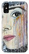 Audrey Hepburn-abstract IPhone Case