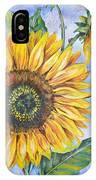 Audrey's Sunflower IPhone Case