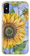 Audrey's Sunflower With Boarder IPhone Case