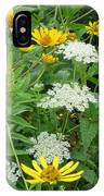 August Wildflowers IPhone Case