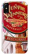 Auntie Skinner's  Riverboat  Club IPhone Case