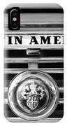 Austin America Grille Emblem -0304bw IPhone Case