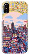 Austin Texas Abstract Panorama 2 IPhone Case