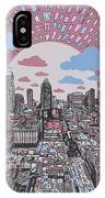 Austin Texas Abstract Panorama 3 IPhone Case