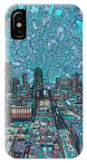 Austin Texas Vintage Panorama 4 IPhone Case