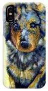 Australian Shepherd Puppy IPhone Case