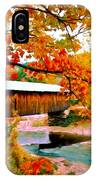 Authentic Covered Bridge Vt IPhone Case
