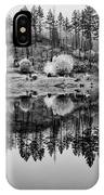 Autumn Reflection Black And White IPhone Case