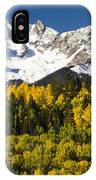 Autumn And Snow Covered Peaks North IPhone Case