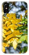 Autumn Ash Tree Leaves Under The Sun IPhone Case