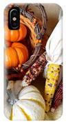 Autumn Basketful With Corn IPhone Case