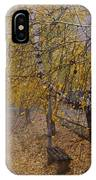 Autumn Bench IPhone Case