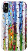 Autumn Birch Trees Abstract IPhone Case