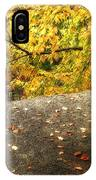 Autumn Boulder And Leaves IPhone Case
