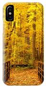 Autumn Bridge V IPhone Case
